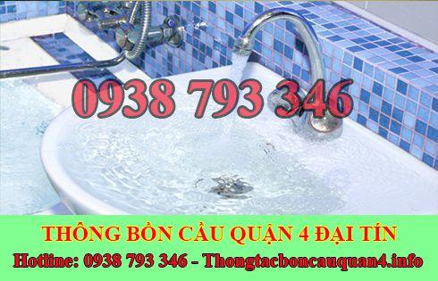 Thông tắc bồn rửa chén bát bị trào ngược Quận 4 lh : 0938793346