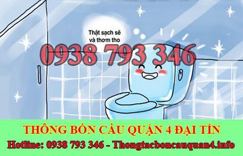 Xử lý mùi hôi bồn cầu toilet nhà vệ sinh Quận 4 Đại Tín