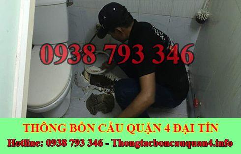 Thợ sữa bồn cầu toilet bị nghẹt Quận 4 giá rẻ 0938793346