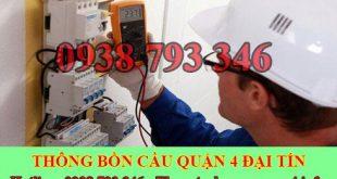 Thợ sửa chữa điện nước Quận 4 giá rẻ tại nhà 0903737957