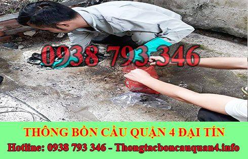 Thông đường ống nước bị tắc nghẹt Quận 4 giá rẻ 0938793346