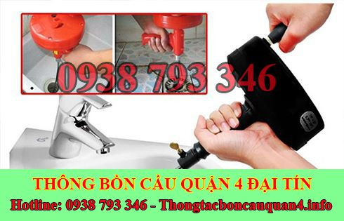 Thợ thông tắc bồn rửa mặt lavabo Quận 4 giá rẻ 0938793346
