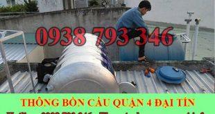 Bảng giá vệ sinh bồn nước tại Quận 4 giá rẻ 0903737957 uy tín