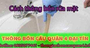 Cách thông bồn rửa mặt phương pháp xử lý nhanh tại nhà